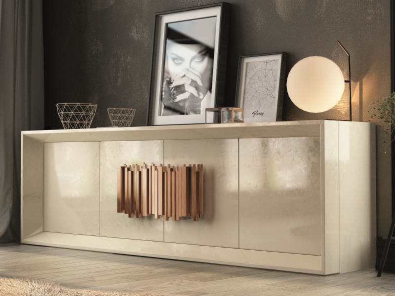 4-door lacquered sideboard. Mod. ANCONA