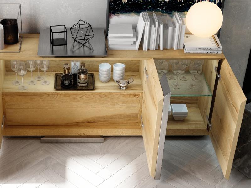 Oak sideboard. Mod. YBONNE