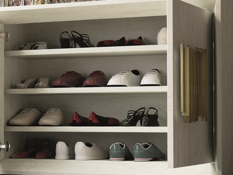 Oak shoe rack. Mod. ANCONA