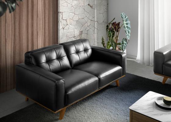2 seater leather sofa. Mod. LEONARDO 2P