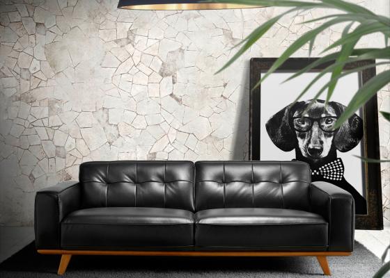 3 seater leather sofa. Mod. LEONARDO 3P