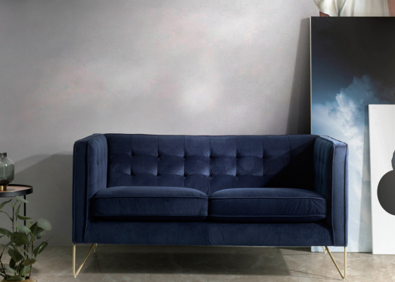 2-seater upholstered sofa. Mod. SOFT-2P