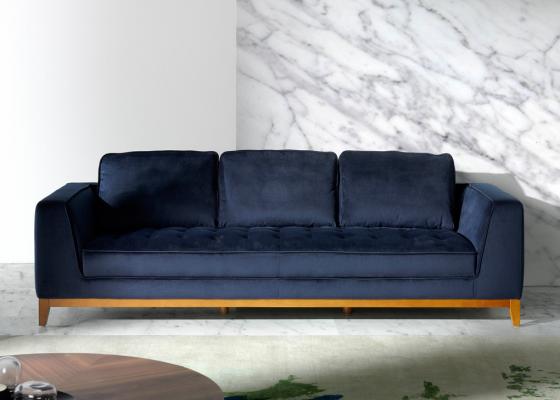 3-seater upholstered sofa. Mod. ALEXA-3P