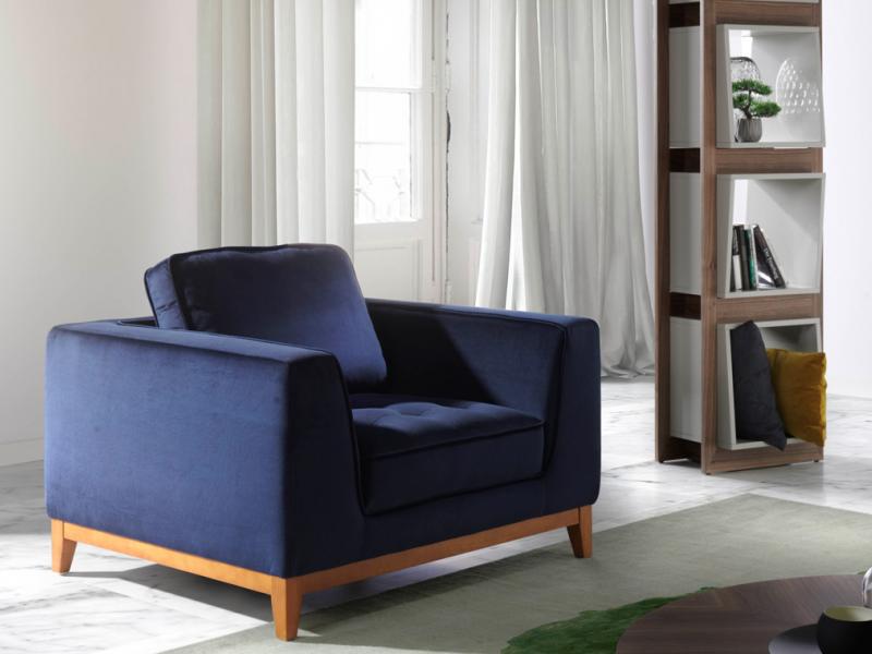 Upholstered armchair. Mod. ALEXA-1P