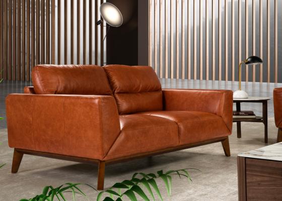 2 seater leather sofa. Mod. ADELE-2P