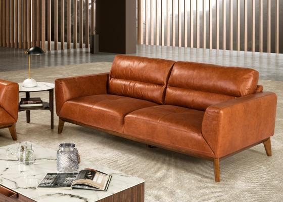 3 seater leather sofa. Mod. ADELE-3P