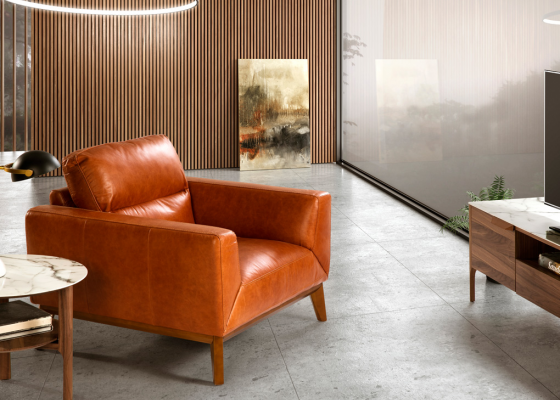 Leather armchair. Mod. ADELE-1P