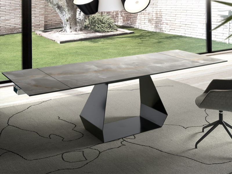 Extendable dining table with ceramic top. Mod. CERAMIC ORIOL