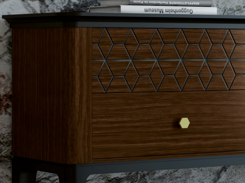 4-drawer dresser. Mod. ALYA4