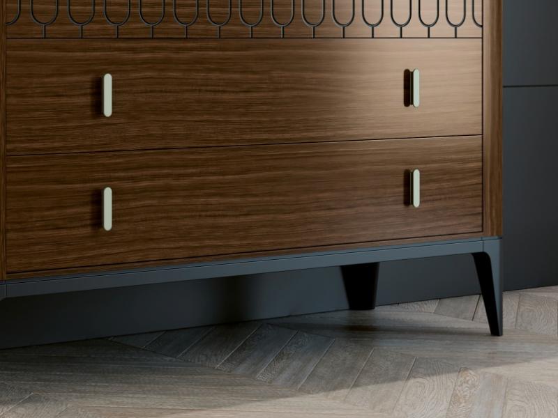 3-drawer dresser. Mod. MENTON