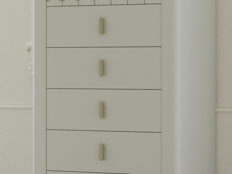 6-drawer lacquered chiffonier. Mod. MENTON