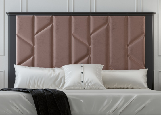 Upholstered lacquered headboard. Mod. REEM
