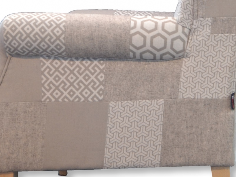 Armchair. Mod. BOSTON PATCHWORK STONE