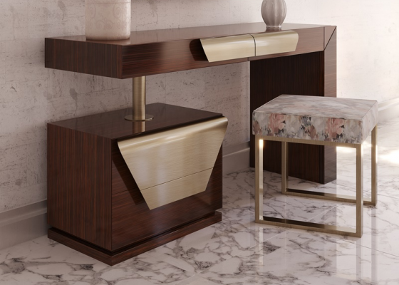 Lacquered design vanity. Mod. LINOSA