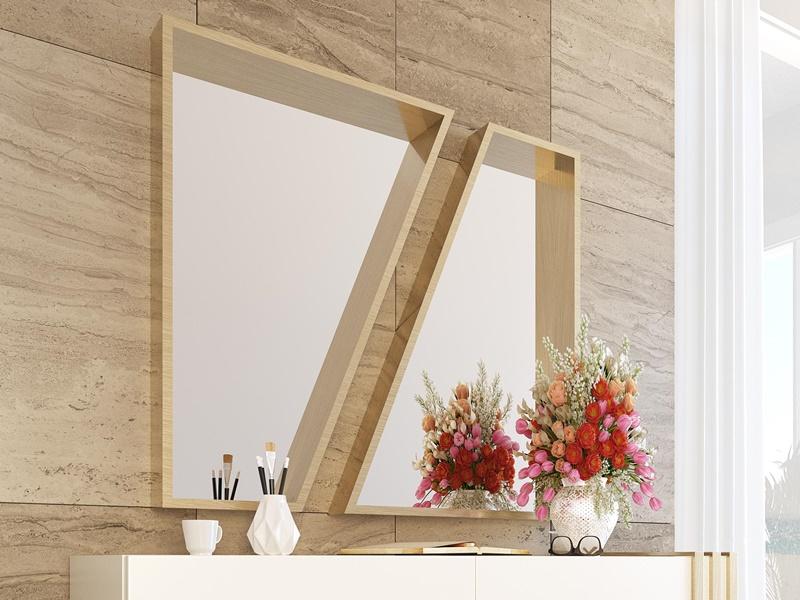 Lacquered metallic mirror. Mod. ANCONA