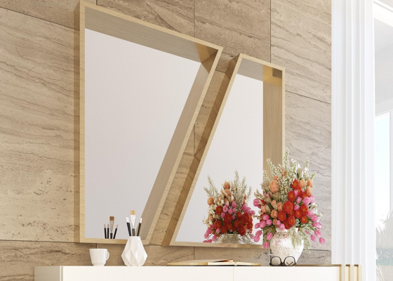 Lacquered metallic mirror. Mod. ANCONA