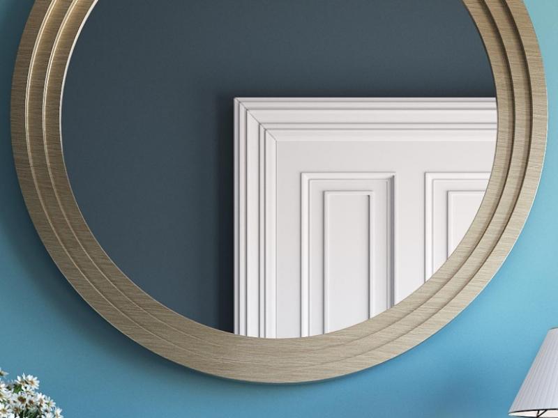 Round  mirror. Mod.GIULIO