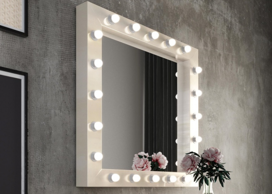 Mirror with led lighting.Mod: NACRE
