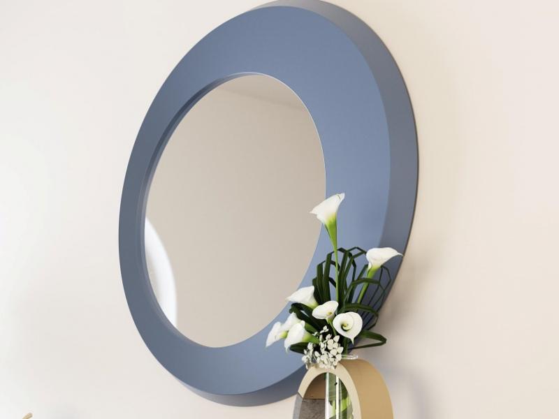Lacquered round mirror. Mod. PIETRO