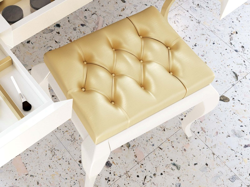 Upholstered  and lacqured bench. Mod. SYROS