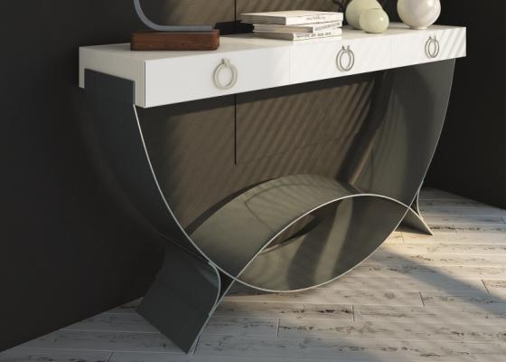 One-drawer design console. Mod. CRETA