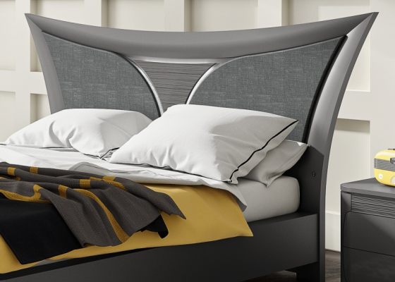 Lacquered and upholstered headboard. Mod .ARIANNA PL