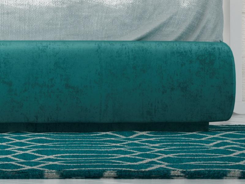 Complete upholstered bed. Mod. KAELA