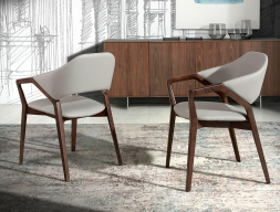 Set of 2 upholstered chairs. Mod. ELBA