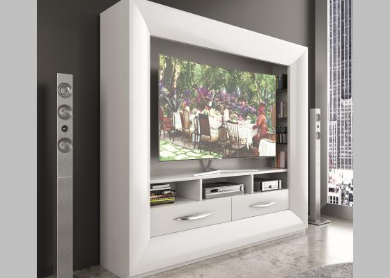 Lacquered TV cabinet. Mod. DALIA