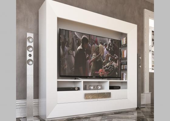 Lacquered TV cabinet. Mod. HAMIDA