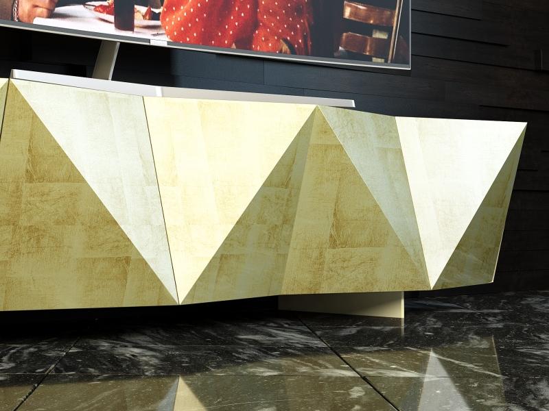 Lacquered  design TV cabinet. Mod. DIAMANT