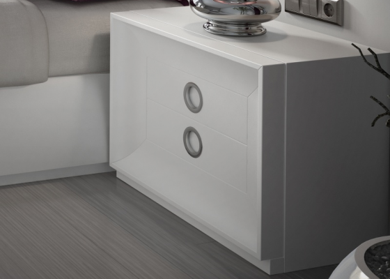 2-drawer lacquered bedside tables. Mod. MAAT