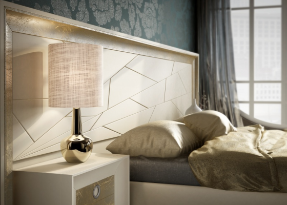 Large lacquered headboard. Mod: ANNIPE