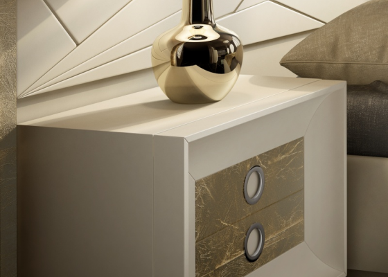 2-drawer lacquered bedside tables. Mod. ANNIPE