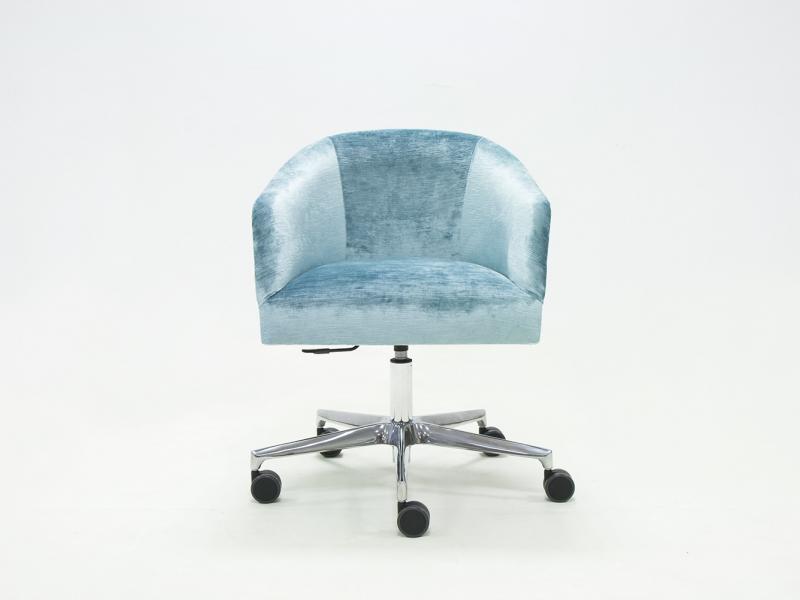 Swivel padded upholstered armchair in velvet. Mod.  GORDES