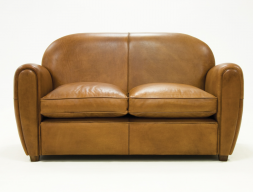 Genuine leather upholstered sofa. Mod. ROYAL