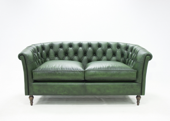Genuine leather upholstered Chester sofa. Mod. OXFORD