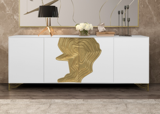 High gloss lacquered sideboard. Mod. TERRA