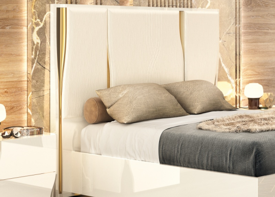 Lacquered and upholstered headboard. Mod. ESSENCE