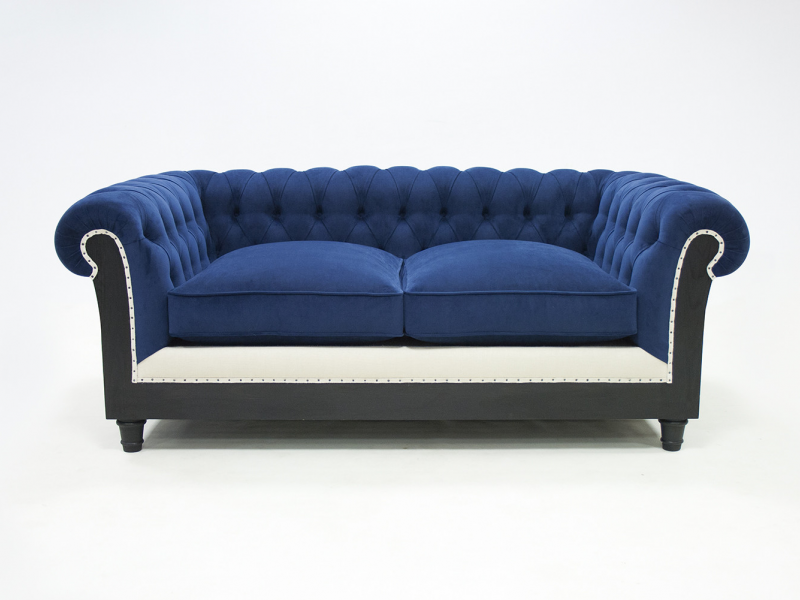 Chester sofa upholstered and padded in fabric. Mod. MARGATE