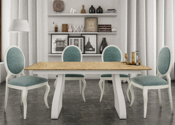 Extensible dining table. Mod. ASPEN