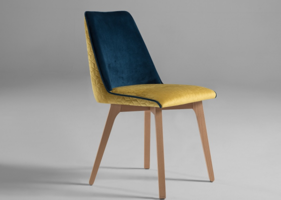 Upholstered chair. Mod. DIEPPE