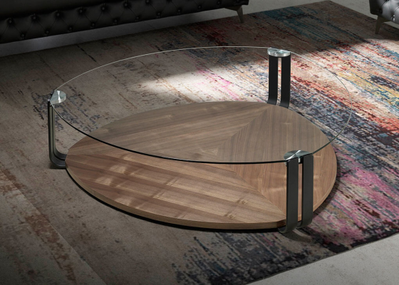 Coffee table with glass top. Mod: SIRMIONE