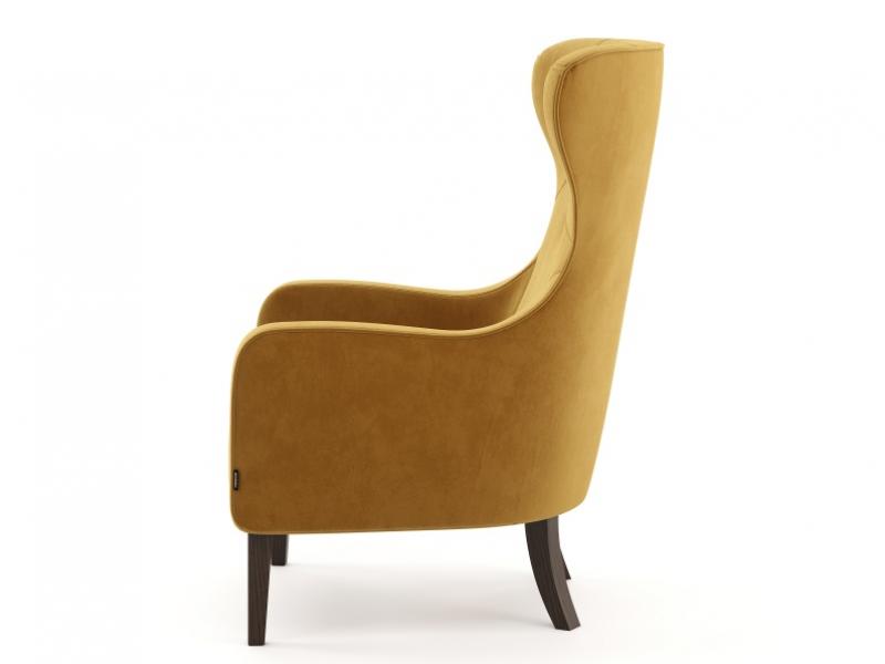 Upholstered armchair in velvet. Mod. ISABELLE