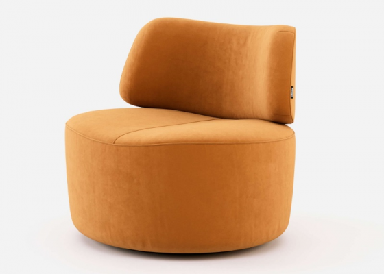 Design armchair upholstered in velvet. Mod. JOLIE