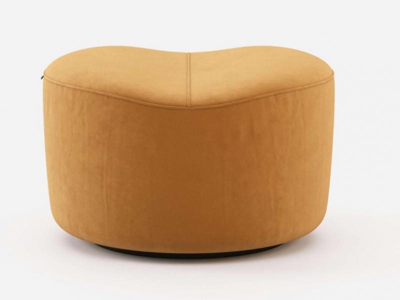 Upholstered velvet pouf. Mod. JOLIE