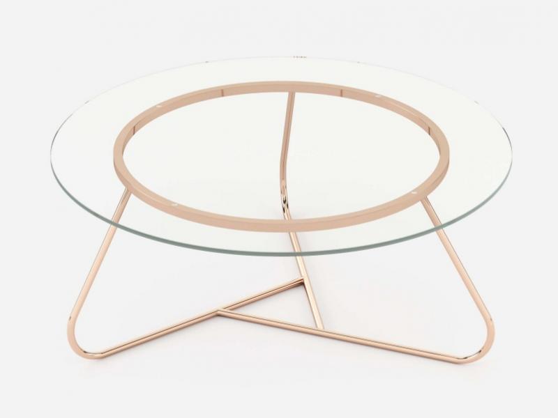 Stainless steel coffee table.Mod: GIGI
