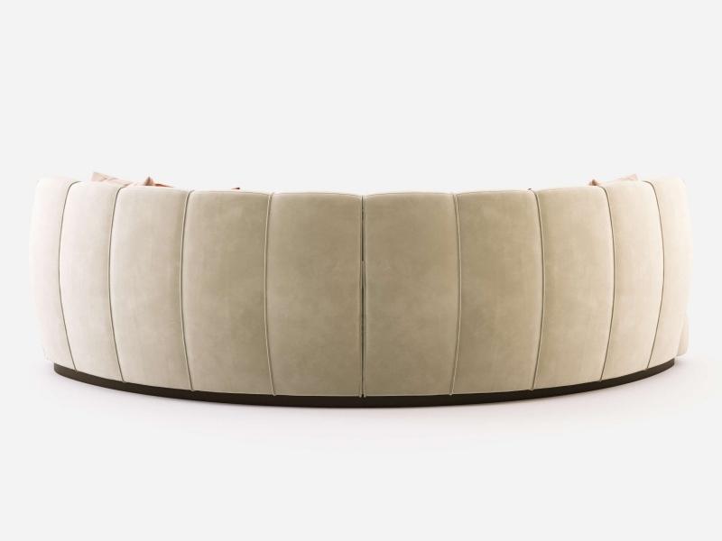 Circular design sofa upholstered in velvet. Mod. DREAM