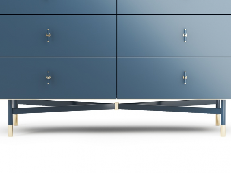 Lacquered dresser with marble top. Mod. MONSIEUR