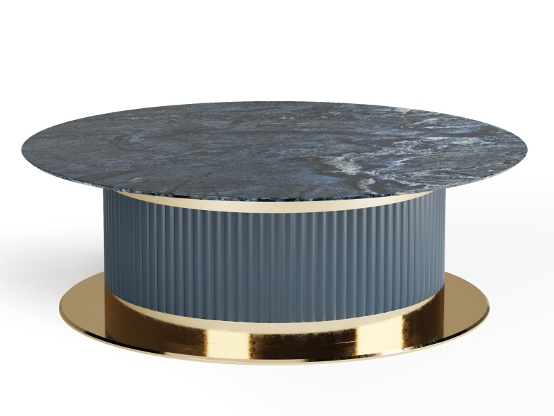 Low table with top marble. Mod. MONSIEUR